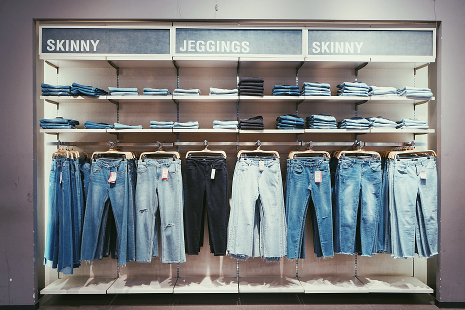 inventarios de una tienda de ropa
