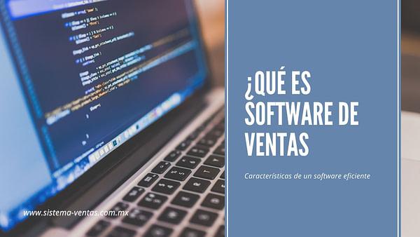 Qué es software de ventas